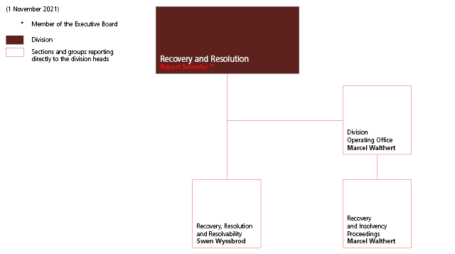 Recovery and Resolution division organisation chart